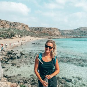 rebecca-the-wanderlust-virtual-assistant-on-greece-beach